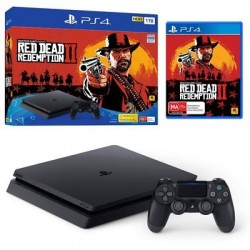 Sony Playstation 4 Jet Black 1TB + Red Dead Redemption 2