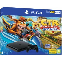 Sony PS4 500GB F Chassis Black + Crash Team Racing Nitro Fueled
