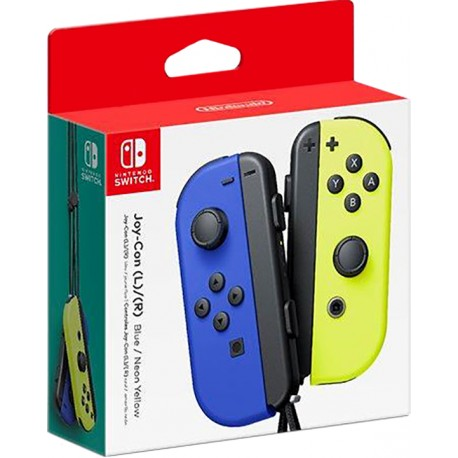 SWITCH JOY-CON COPPIA CONTROLLER BLU / GIALLO NEON