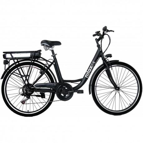 "Bicicletta elettrica E-bike Nilox J5 250W 36V 8AH 26"" Nero"
