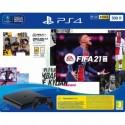 Sony Playstation 4 500GB Chassis slim black + FIFA21 + FUT 21 VCH