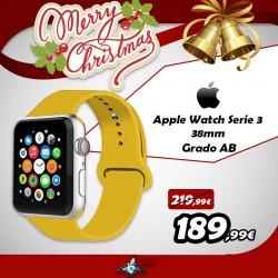 Apple Watch Series 3 silver 38mm ricondizionato cinturino giallo