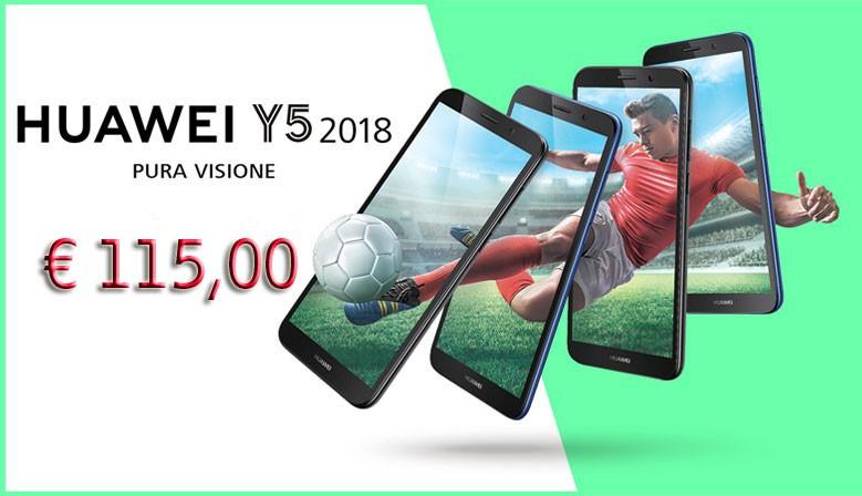 Huawei Y5 2018 Italia Brand mono sim garanzia 24 mesi