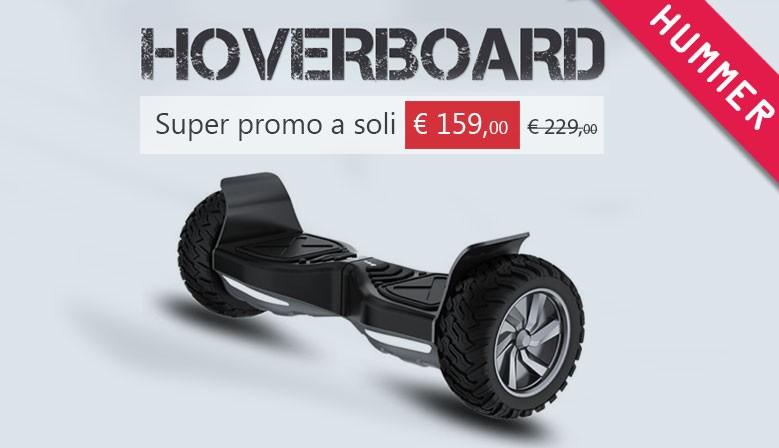 "Hoverboard Fuoristrada 700W 8,5"" Bluetooth Hummer 8.5 Black"